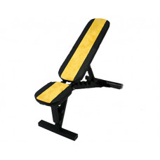 Скамья для упражнений с гантелями и штангой (черно-желтая)